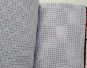 Блокнот антистресс с пайетками-перевертышами черно-красный фото 3