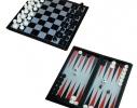 Мини Набор 3в1 шашки нарды шахматы 15 см фото