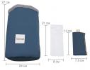 Косметичка - органайзер дорожная с затягиваемой горловиной Синяя фото 8
