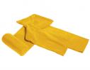 Плед с рукавами двухслойный флис Premium Жёлтый фото 3