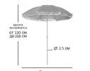Пляжный зонт с наклоном 2.0 Umbrella Anti-UV бирюзовый фото 3