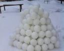 Снежколеп желтый - Снежка в форме мяча фото 3