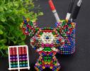 Магнитная игрушка головоломка конструктор антистресс Неокуб Neocube разноцветный 216 шариков 5 мм фото 3