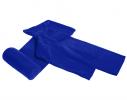 Плед с рукавами двухслойный флис Premium Синий ультрамарин фото 3