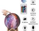 Настольный светильник 3D MOON LAMP Месяц 15 см Цветной фото 3