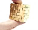 Магнитная игрушка головоломка Неокуб 216 кубов. Золото фото 4