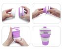 Чашка складная силиконовая Collapsible 5332 350мл, фиолетовая фото 4