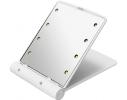 Карманное зеркало складное с LED подсветкой белое фото 4