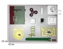 Бизиборд Часы и дверь Разноцветный фото 4
