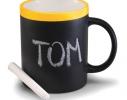 Чашка керамическая матовая с мелком Терра 340 мл фото 3