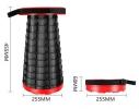 Складной походный табурет Telescopic Stool Черный фото 4