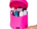Круглый органайзер для косметики Розовый фото 1