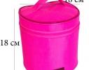 Круглый органайзер для косметики Розовый фото 2