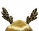 Заколка для волос Ушки Оленёнка Пегие фото