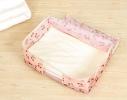 Кофр органайзер для постельного белья, одеял и одежды Розовый фото 1