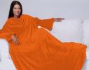 Плед с рукавами двухслойный флис Premium Оранжевый фото 4