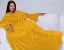Плед с рукавами двухслойный флис Premium Жёлтый фото 4