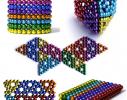 Магнитная игрушка головоломка конструктор антистресс Неокуб Neocube разноцветный 216 шариков 5 мм фото 4