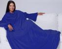 Плед с рукавами двухслойный флис Premium Синий ультрамарин фото 4