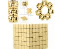 Магнитная игрушка головоломка Неокуб 216 кубов. Золото фото 5