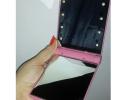 Карманное зеркало для макияжа складное с LED подсветкой фото 1