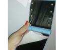 Карманное зеркало складное с LED подсветкой голубое фото 4