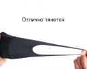 Трехслойная защитная маска многоразовая черная-коралл фото 4