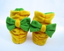 Тапочки флисовые желтые с бантом зеленым Топ-топ фото 2