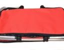 Термосумка, дорожная термокорзина Красная фото 2