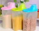 Контейнер - бокс для сыпучих продуктов Голубой фото 1