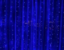 Гирлянда Штора Led 360 голубая фото 2