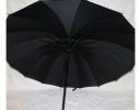 Зонт Антишторм трость Черный 16 спиц фото 1