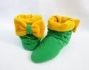 Тапочки зеленые с желтым бантом фото 2