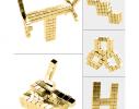 Магнитная игрушка головоломка Неокуб 216 кубов. Золото фото 6