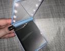 Карманное зеркало складное с LED подсветкой голубое фото 5