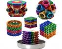 Магнитная игрушка головоломка конструктор антистресс Неокуб Neocube разноцветный 216 шариков 5 мм фото 5