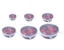 Набор силикон. крышек Super Stretch Silicone Белый 6 шт. фото 5