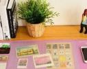 Ультра - большой коврик для мыши. С карманами, линейкой и органайзером для заметок на полотне фото