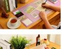 Ультра - большой коврик для мыши. С карманами, линейкой и органайзером для заметок на полотне фото 3