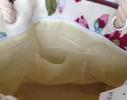 Пляжная текстильная летняя сумка для пляжа и прогулок цветочный принт фото 1