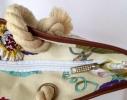 Пляжная текстильная летняя сумка для пляжа и прогулок цветочный принт фото 2