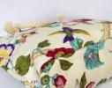 Пляжная текстильная летняя сумка для пляжа и прогулок цветочный принт фото 4
