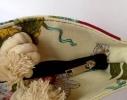Летняя текстильная сумка для пляжа и прогулок Цветы фото 3