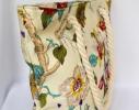 Летняя текстильная сумка для пляжа и прогулок Цветы фото 1