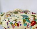Летняя текстильная сумка для пляжа и прогулок Цветы фото 2