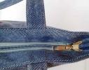 Летняя джинсовая сумка для пляжа и прогулок фото 3