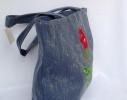 Летняя джинсовая сумка для пляжа и прогулок фото 1