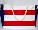 Пляжная текстильная сумка с морским принтом в полоску фото