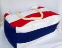 Пляжная текстильная сумка с морским принтом в полоску фото 4