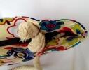 Пляжная текстильная летняя сумка для пляжа и прогулок Цветы фото 3